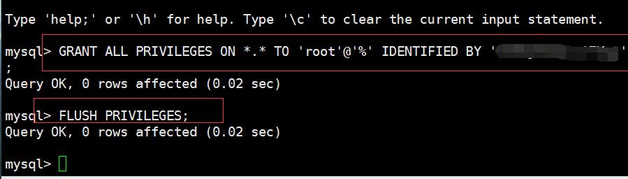 mysql数据库开启远程访问
